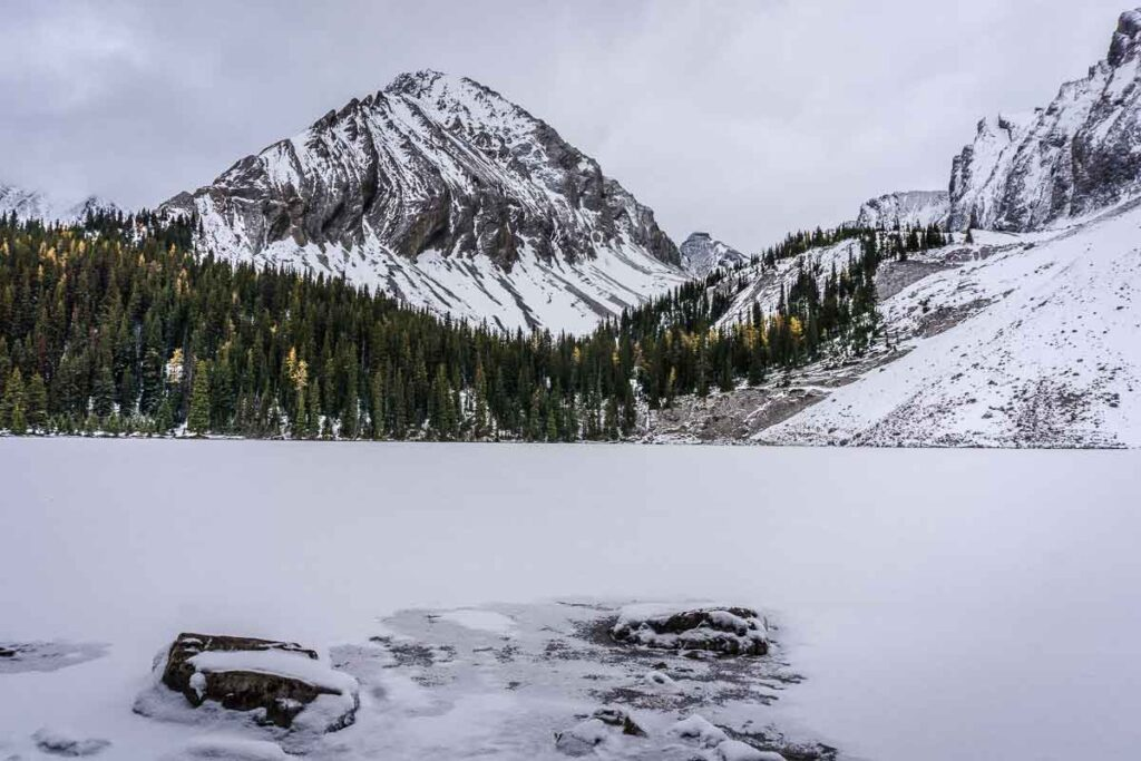 best winter hikes in kananaskis - Chester Lake