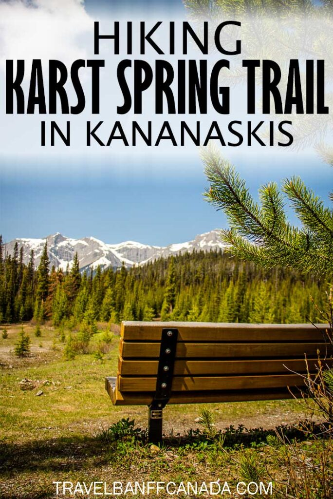 An easy hike in Kananaskis Country with an incredible pay off! Karst Spring Trail is great for families and groups. Click to read more on what makes it such a great hike!