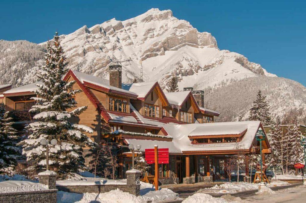 The Banff Ptarmigan Inn in winter
