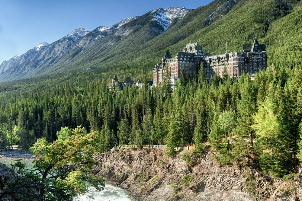"The iconic ""Castle in the Rockies"" - the Banff Springs Hotel"