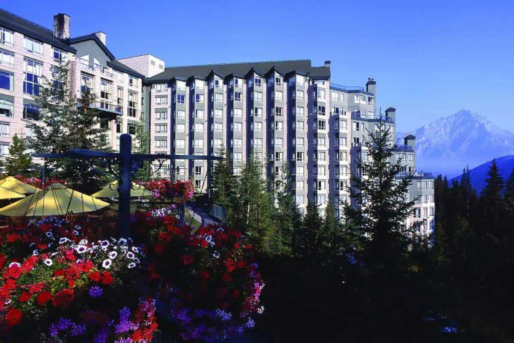 The luxurious Rimrock Hotel is one of the best hotels in Banff National Park
