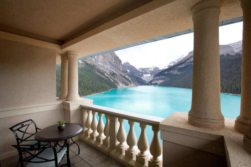 The world-famous Fairmont Chateau Lake Louise