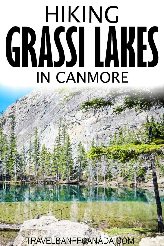Just outside Banff National Park and the town of Canmore, is this incredible hike to Grassi Lakes. This easy hike near Canmore, Alberta will astound you when you see the color of the water.