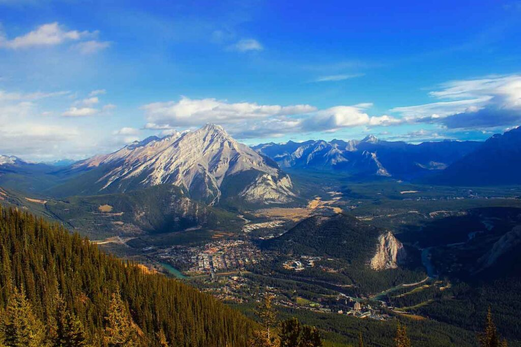 A view of Tunnel Mountain, Banff