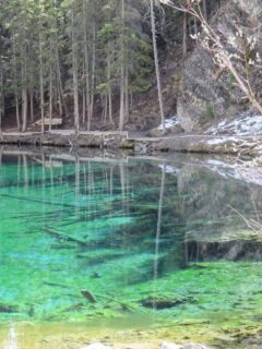 The Grassi Lakes in Canmore have an incredible deep blue-green color