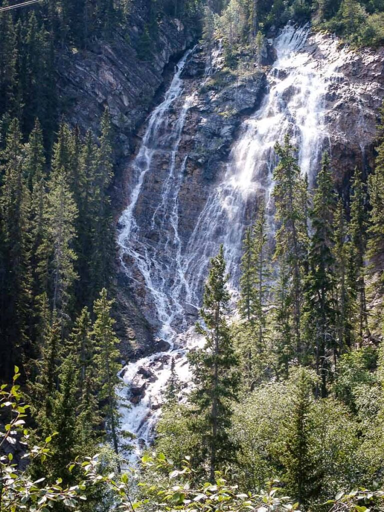 See the Grassi Lake falls from the harder Grassi Lakes Trail
