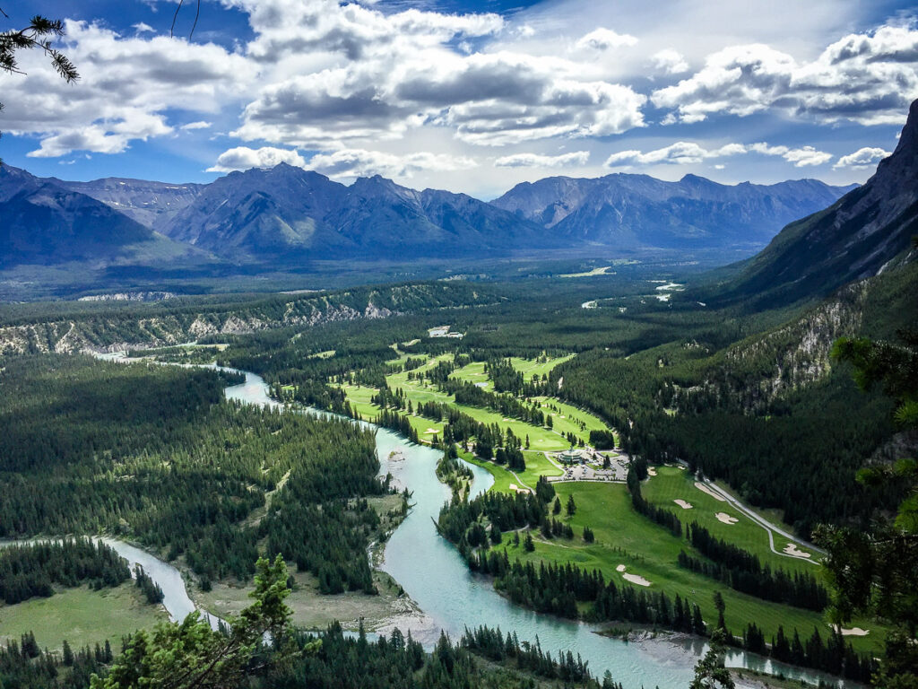 The views of the Banff Springs Golf course are amazing from the Tunnel Mountain hike