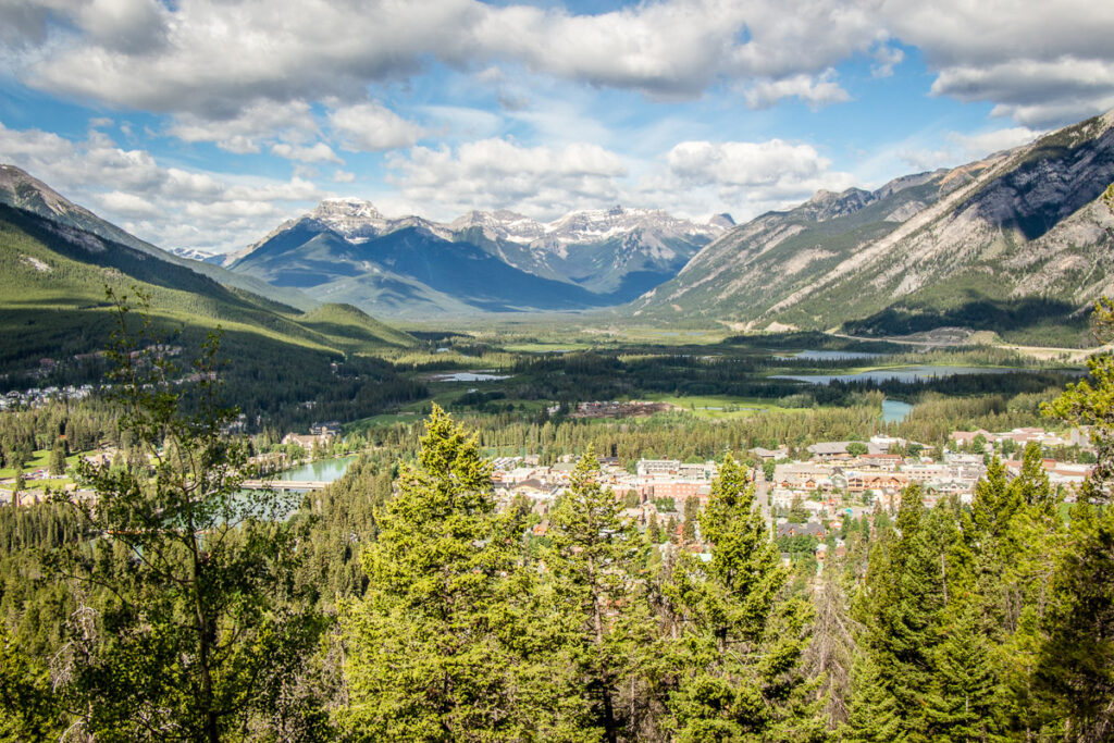 The setting for the Town of Banff as seen from the Tunnel Mountain Trail