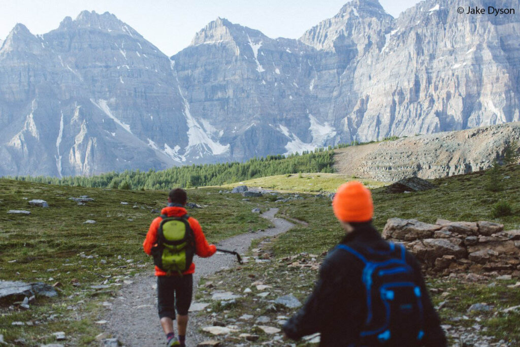 Hiking Banff Sentinal Pass with day bags