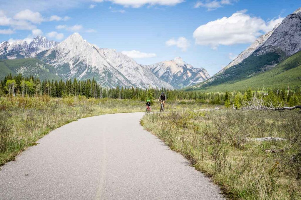 The Evan Thomas Kananaskis bike trail is sometimes known as Bill Milne