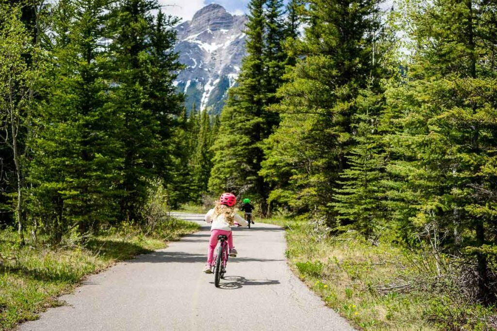 Evan Thomas is one of the best kid-friendly bike trails in the Canadian Rockies
