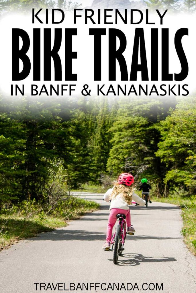 Looking for an alternative to hiking in Banff National Park? Get your kids on two wheels with these kid friendly bike trails in Banff National Park and Kananaskis.  Don't worry, the scenery is just as impressive!