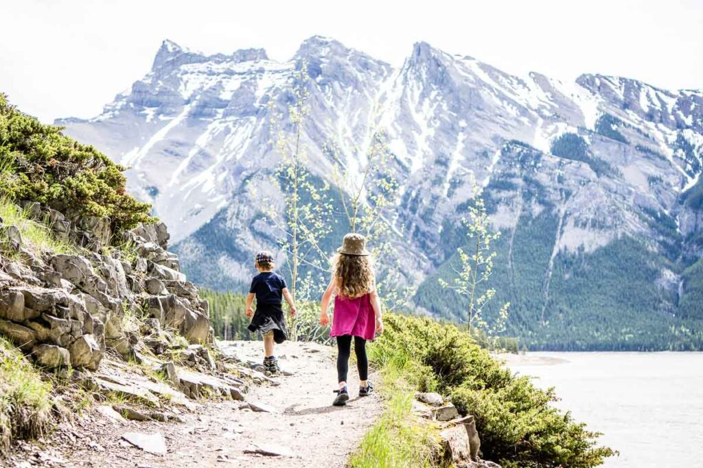 Hiking with kids in Banff National Park - Stewart Canyon Hike