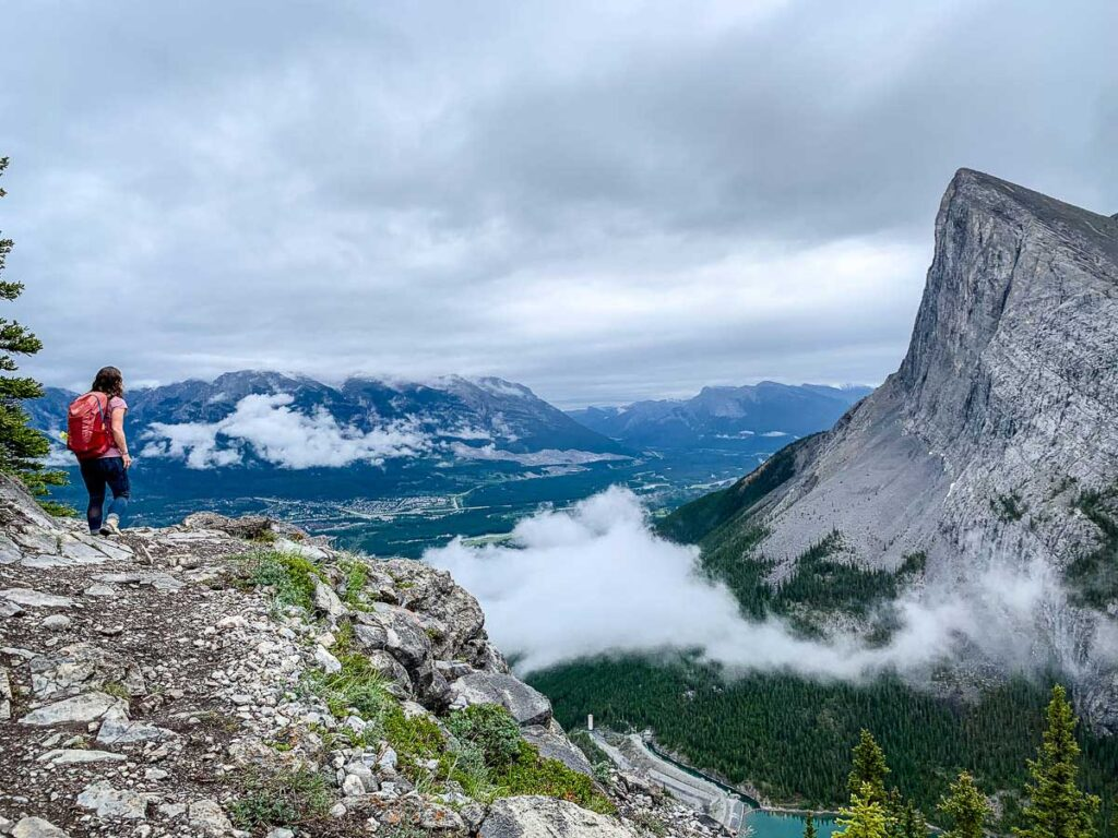 Excellent views of Canmore and the Ha Ling Peak from the EEOR hike