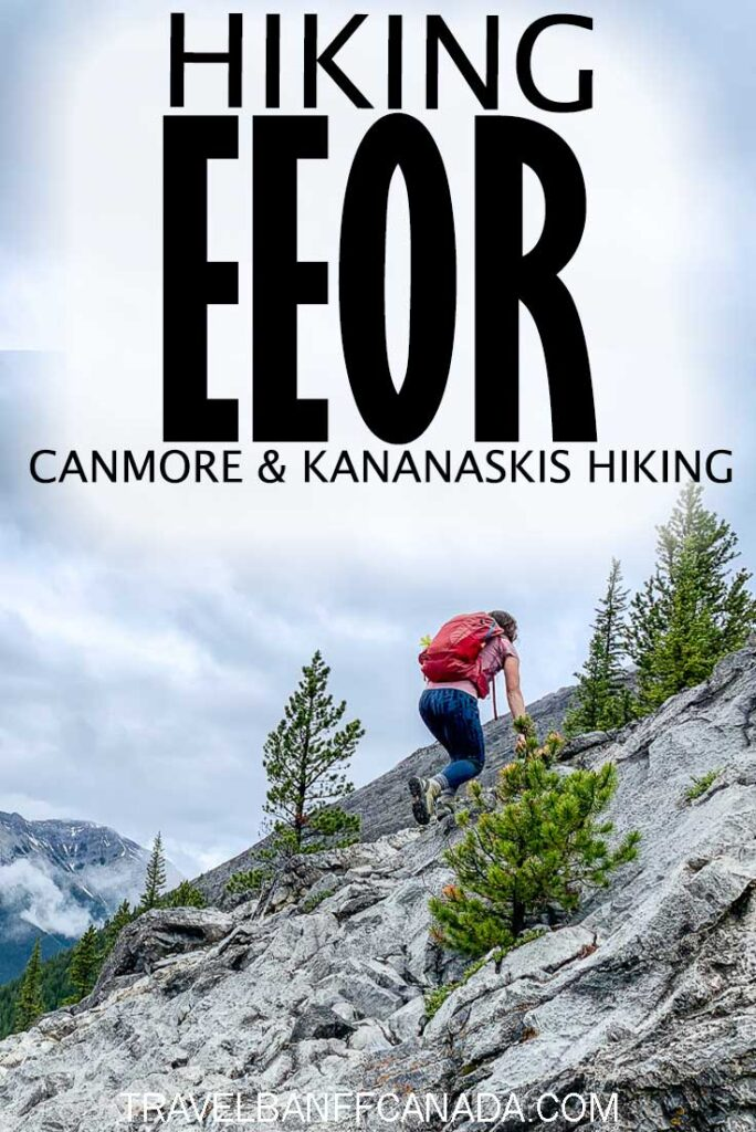 One of the most popular hikes near Canmore. East end of Rundle offers spectacular views throughout the hike! Don't miss this Canmore hike near Banff National Park. #canmore #hiking