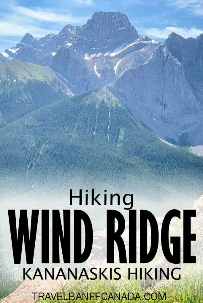 One of the best hikes near Canmore. Wind Ridge offers spectacular views throughout the hike! Don't miss this challenging Canmore hike near Banff National Park. #canmore #hiking