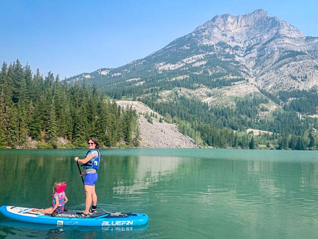 kananaskis paddle boarding on Gap Lake