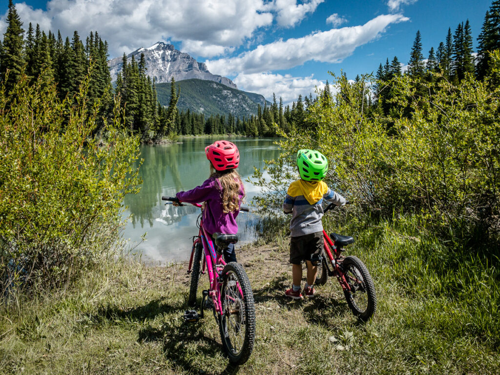 There are plenty of jaw-dropping views along this kid-friendly Banff bike trail