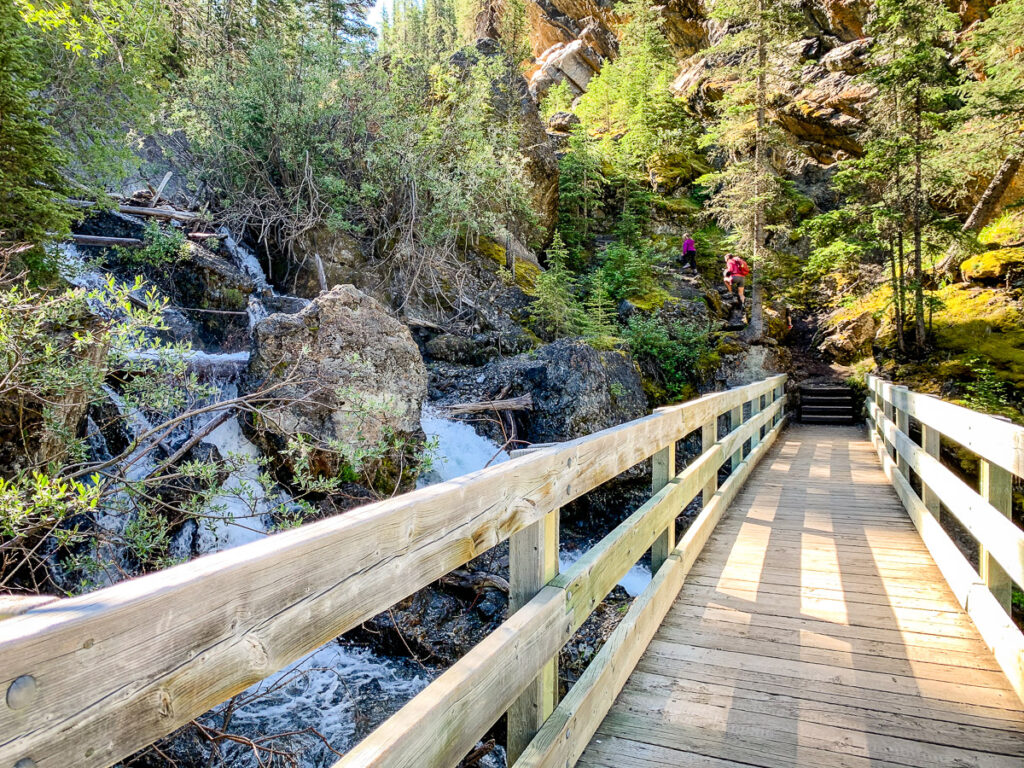 The Sundance Canyon hike near Cave & Basin is a fun thing to do with kids in Banff