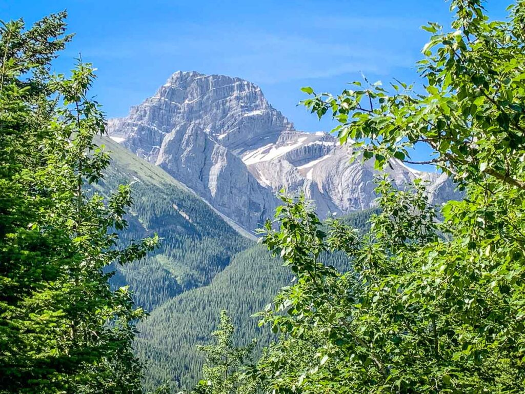 Mt. Lougheed as seen from the Windy Ridge Trail - one of the best hikes in Kananaskis Country
