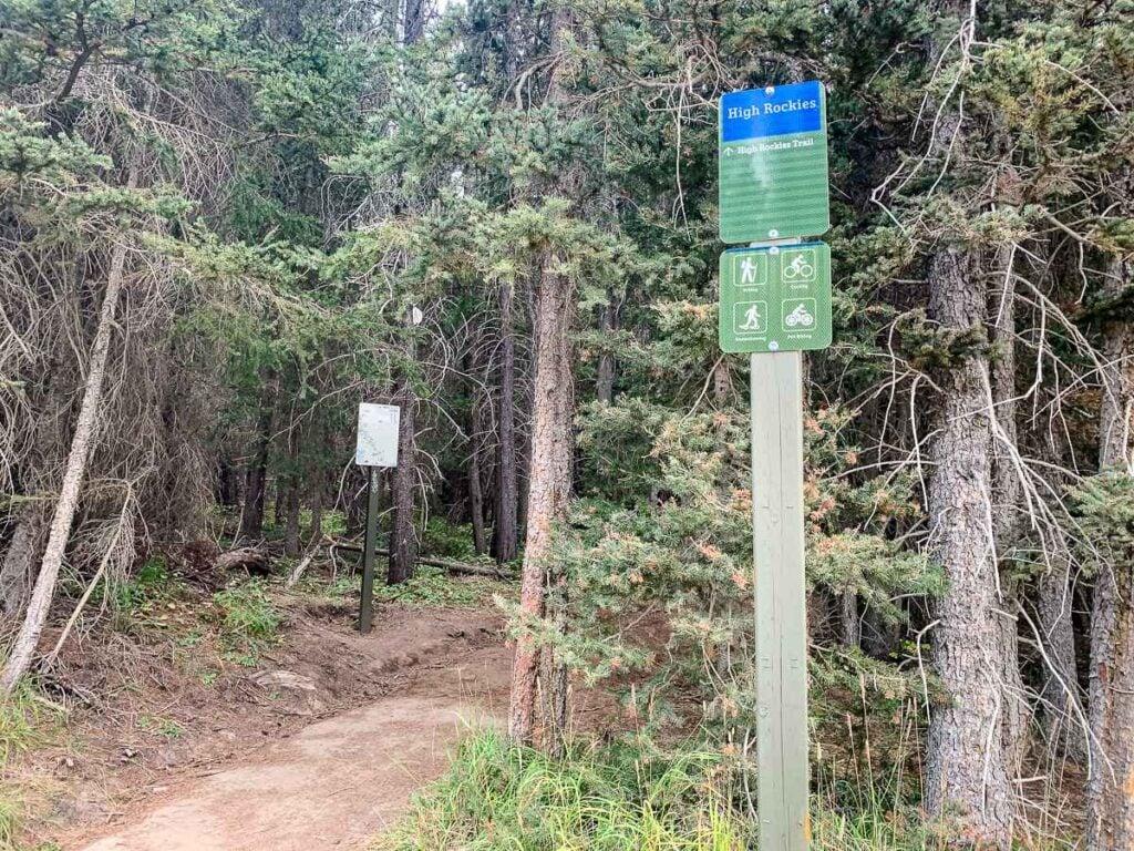 You can hike, mountain bike, snowshoe and fat bike on the High Rockies Trail