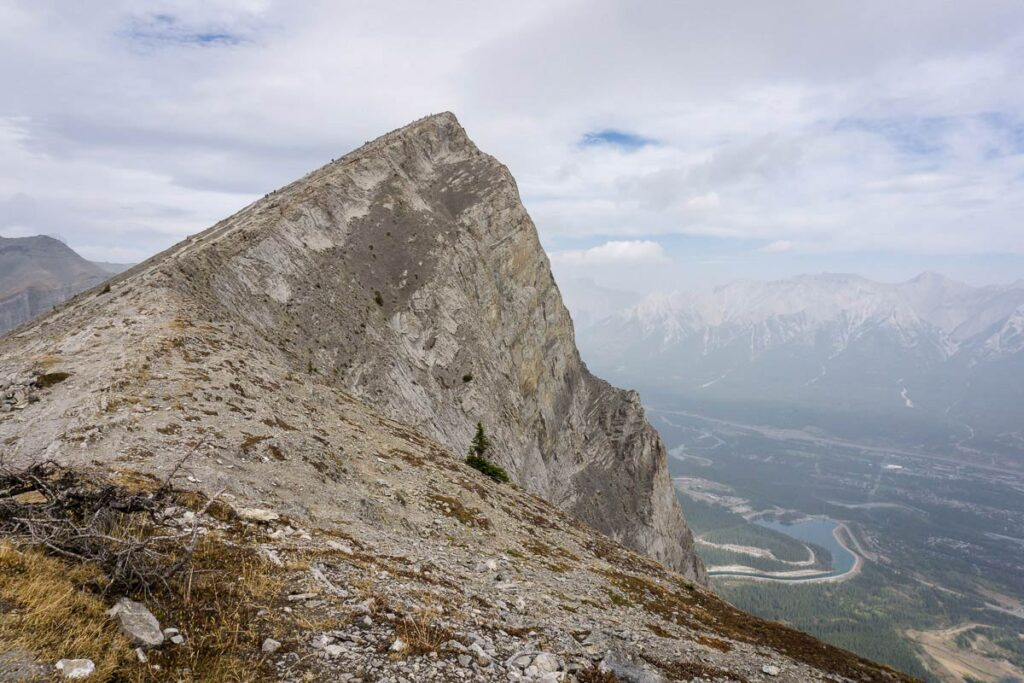 From the Miners Peak trail you can enjoy solitude, while being able to see the crowds hiking Ha Ling Peak Trail