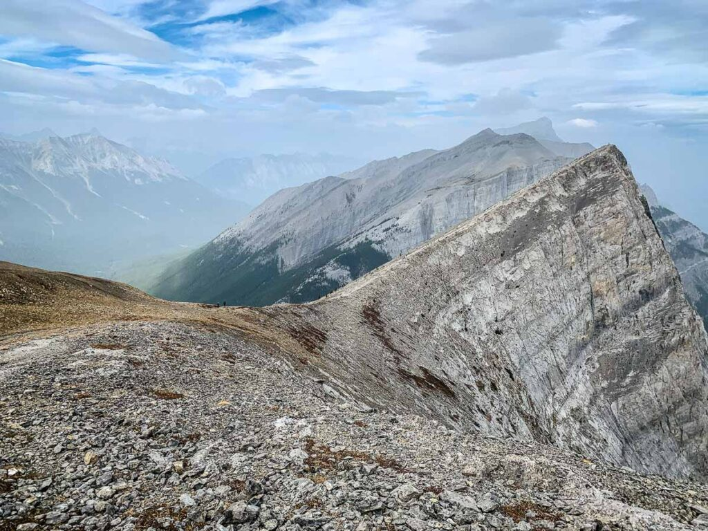 Enjoy views of Ha Ling Peak, Mount Rundle and Goat Creek while hiking Miners Peak, Canmore