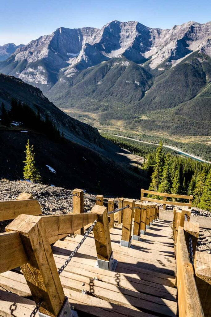 "Travel Banff Canada rates the Miners Peak Trail difficulty as ""difficult"""