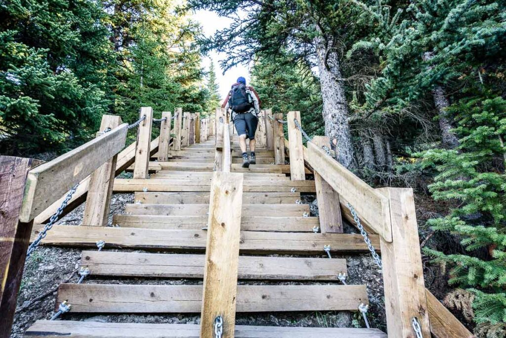 challenging hikes near Canmore, Alberta, Canada