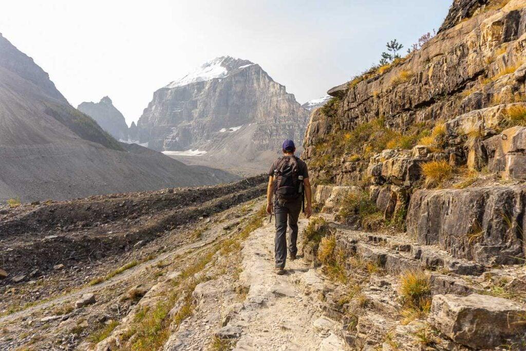 Banff Hiking - heading towards massive Banff glaciers