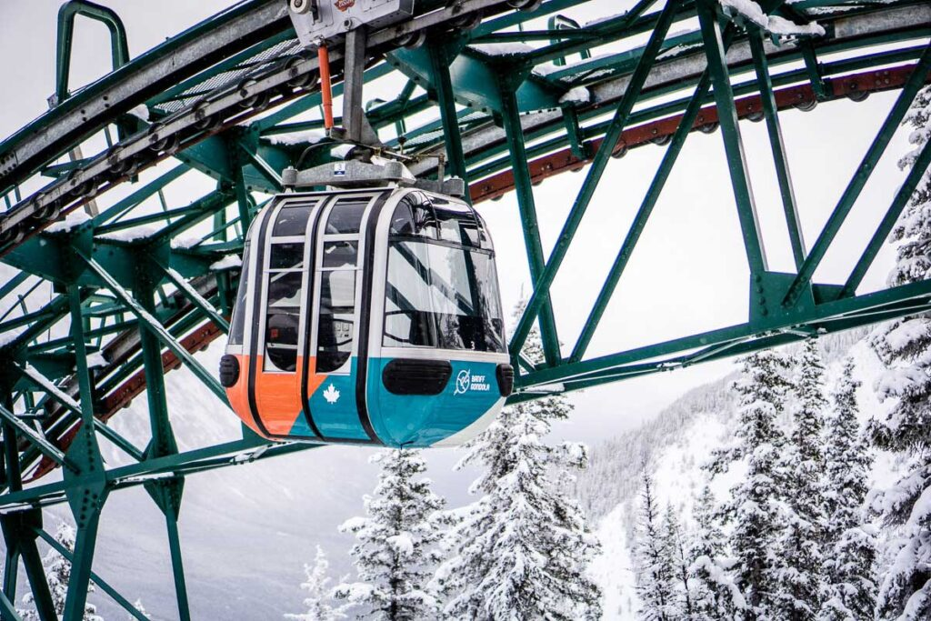 Banff Gondola - winter activities in banff
