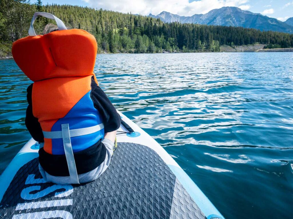 where to paddle board in Canmore - Rundle Forebay Reservoir