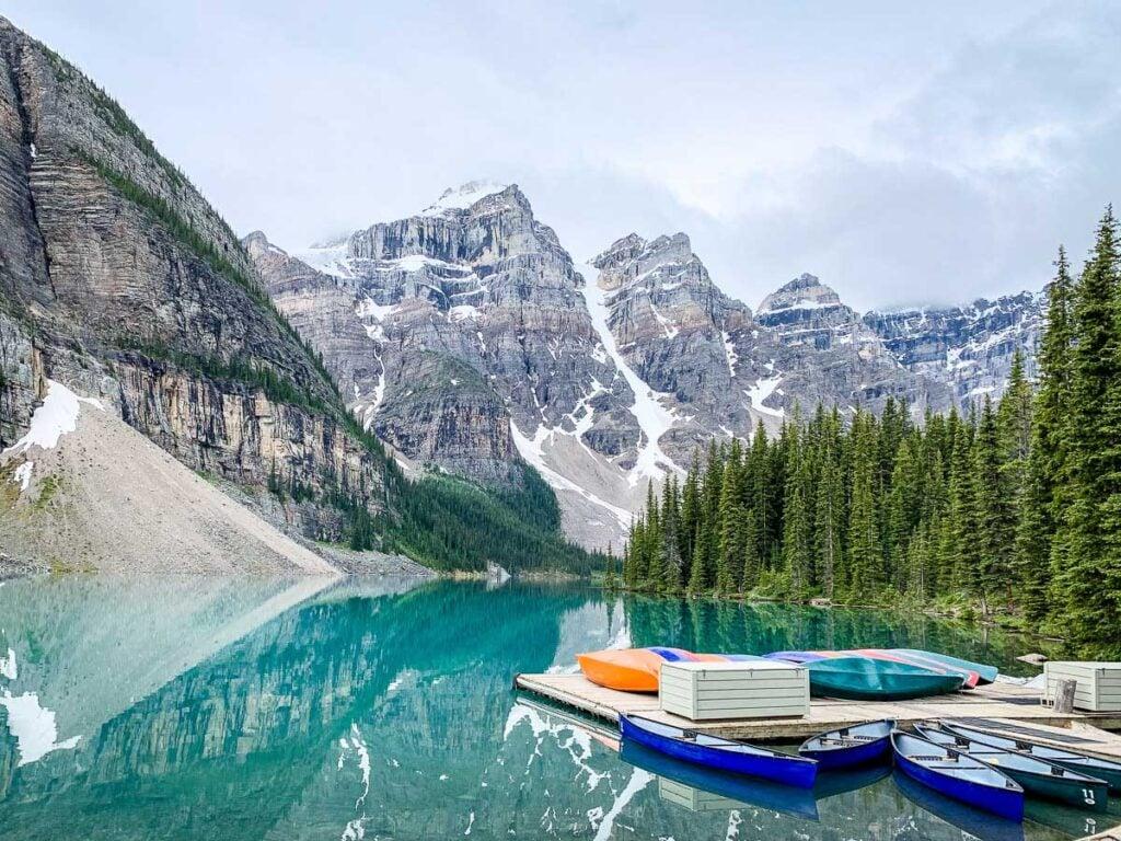 Canoe Rental Moraine Lake Banff NP