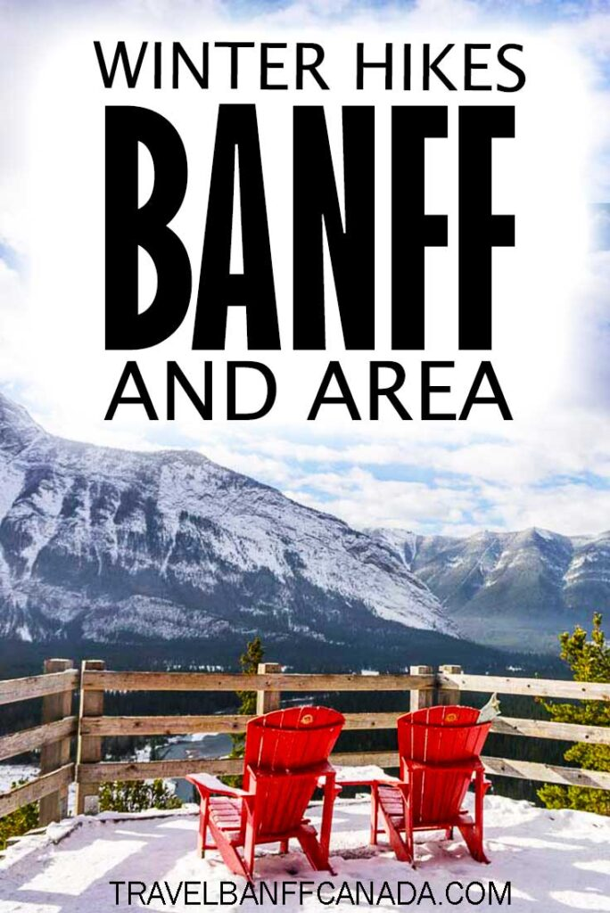 Don't miss these easy winter hikes in Banff National Park and area. Covering winter hikes in Banff, Canmore and Kananaskis, you'll love these winter hiking trails!