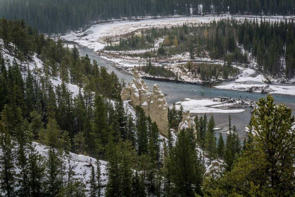 Hoodoos in Banff - hiking in banff area