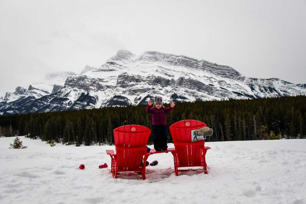 Johnson Lake - banff winter hiking