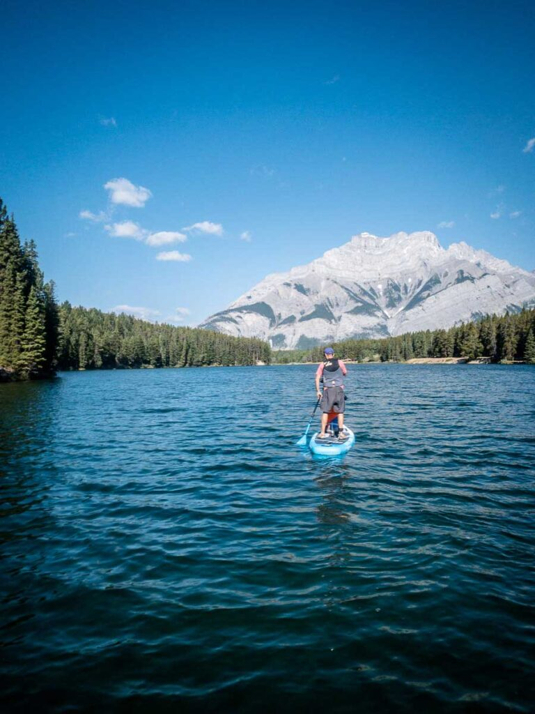 Johnson Lake - where to Stand Up Paddle Board in Banff