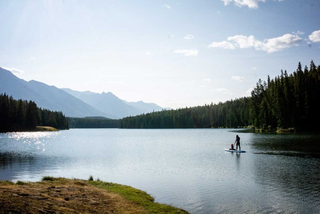 lakes in Banff National Park for paddle boarding
