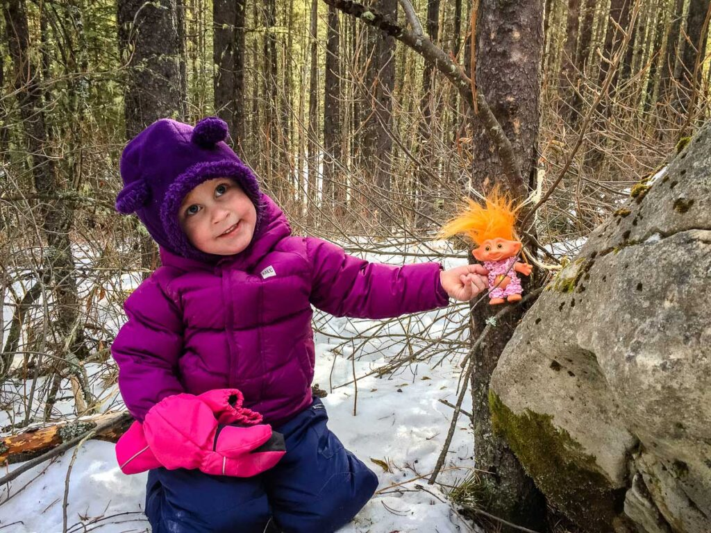 Hiding Troll dolls is no longer permitted on the Troll Falls trail in kananaskis country