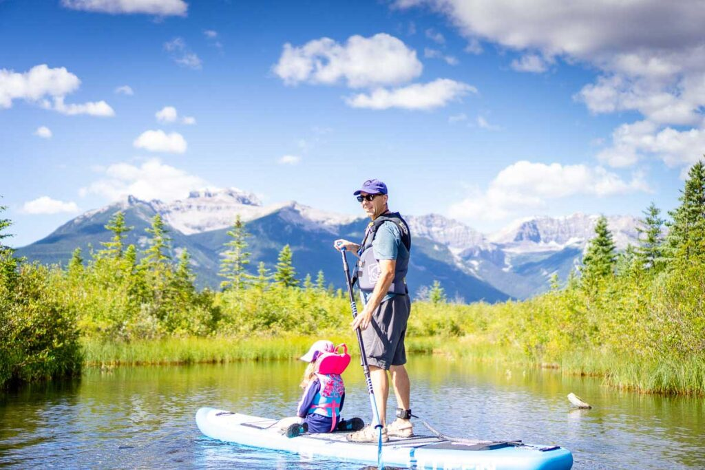 where to stand up paddle board in Banff National Park