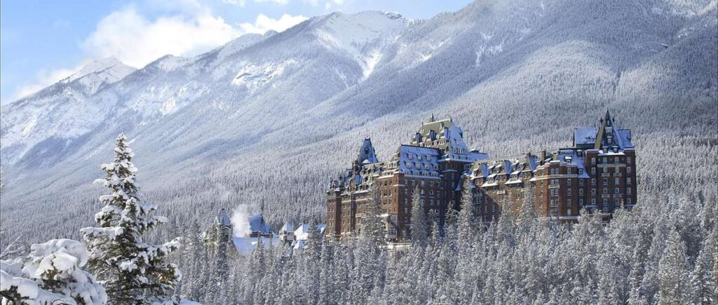 The Banff Springs Hotel is one of the best places to stay in Banff in December