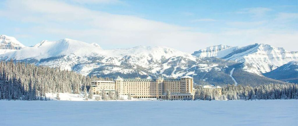 The Chateau Lake Louise is one of the best places to stay in Banff in December