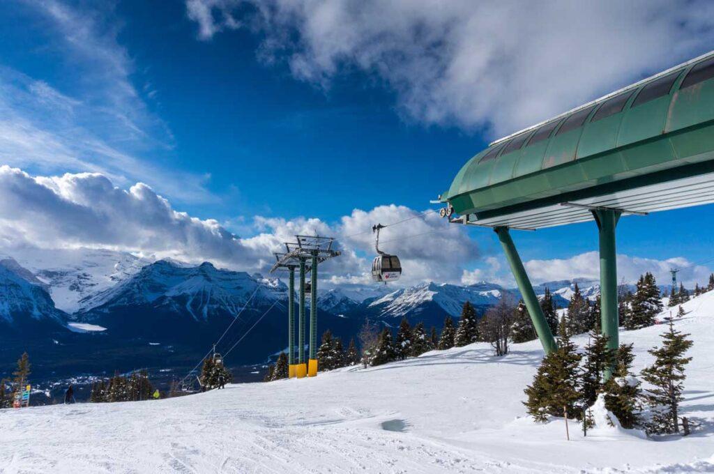 downhill skiing at Lake Louise Ski Resort - Banff