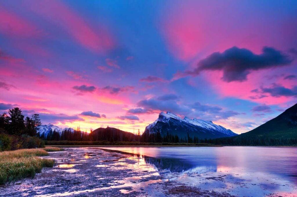 Vermilion Lakes in Banff National Park