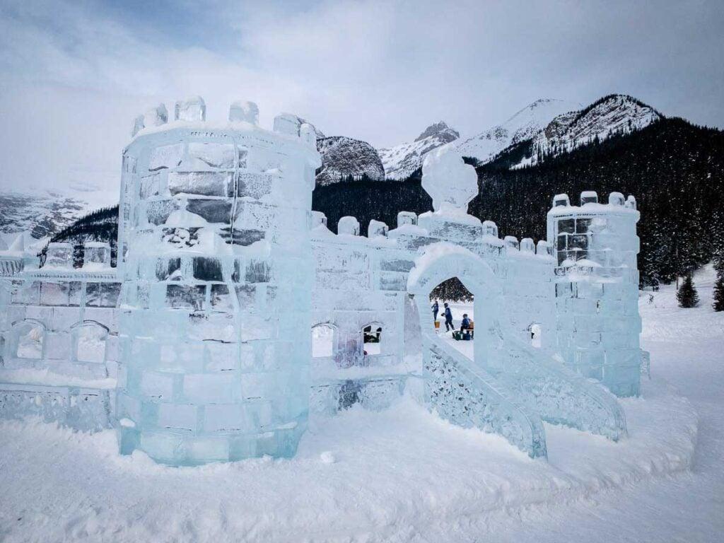 ice magic festival Banff in January