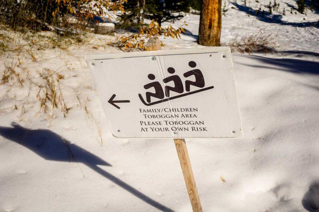 toboganning - banff winter activities for families