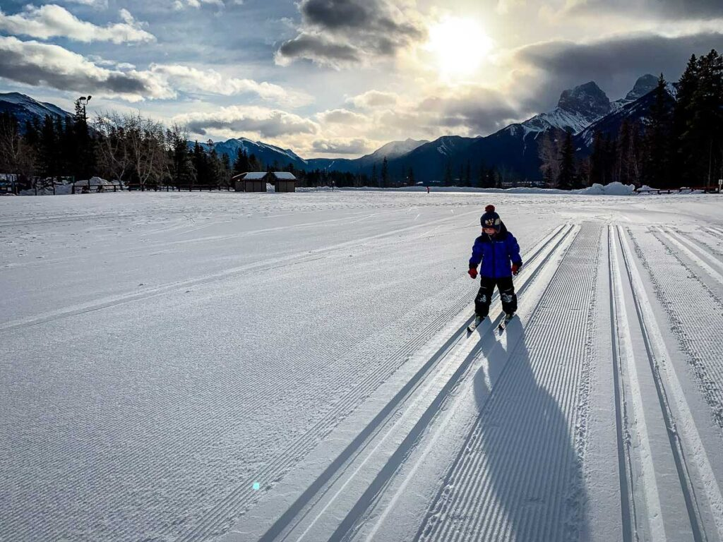 cross country skiing Canmore Nordic Centre