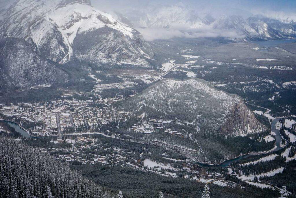 views of banff national park winter