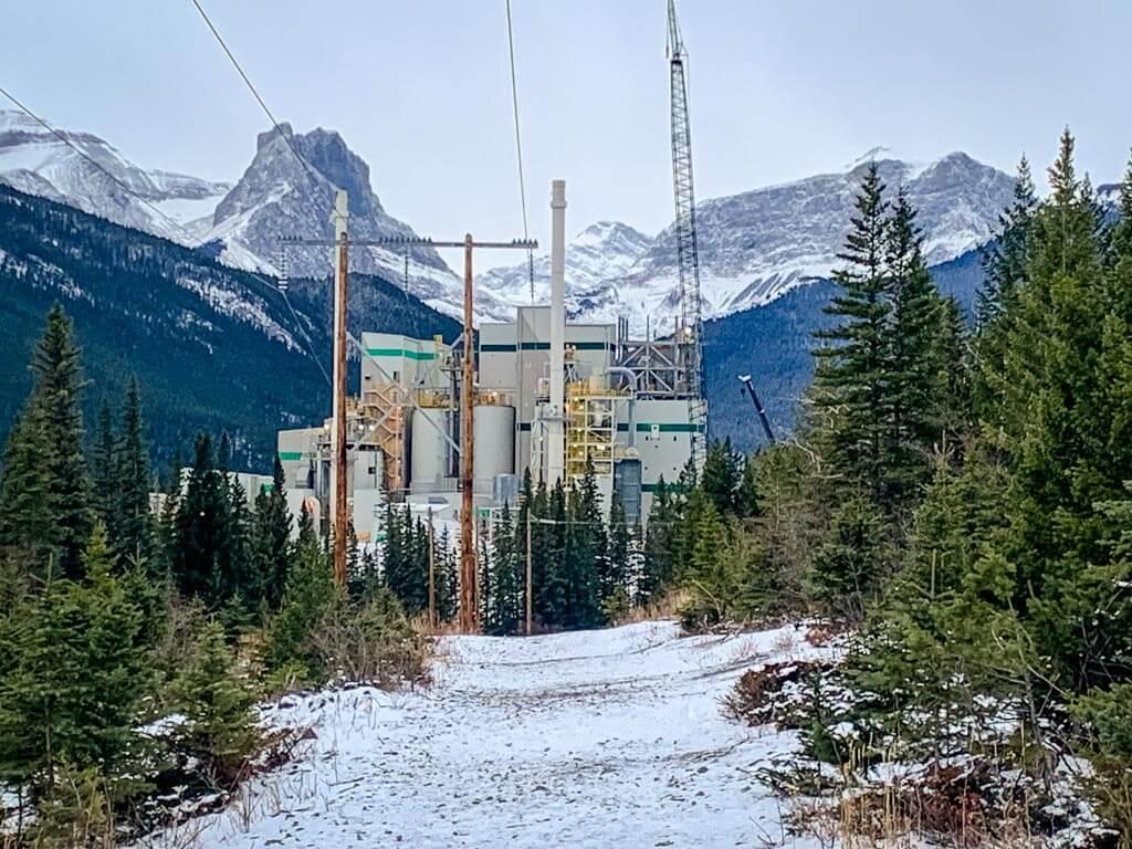 The Baymag plant near Exshaw, Alberta