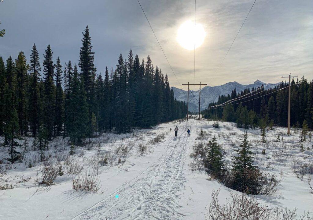 Kid-friendly cross country skiing in Kananaskis - Braille trail